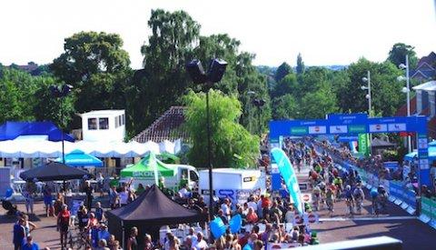 Stemningsfuld optakt til opløbet ved 3. etape af PostNord Danmark Rundt
