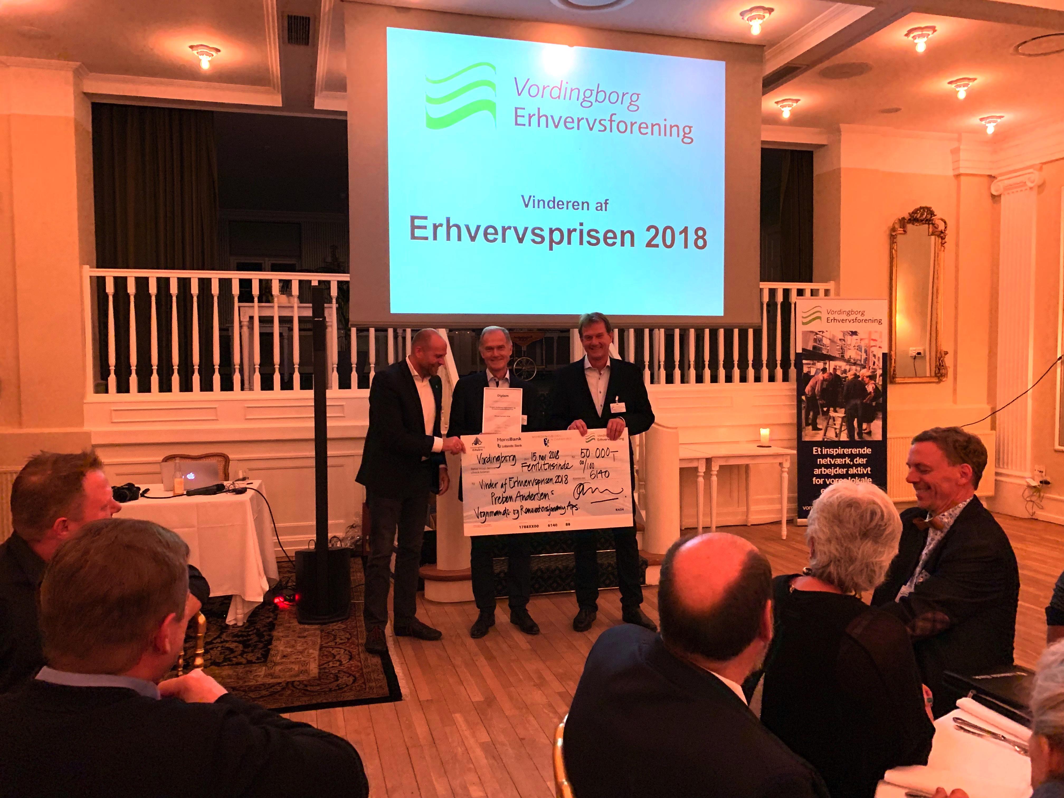 Erhvervsprisen 2018 gik til Preben Andersen Vognmands- og Renovationsforretning ApS!